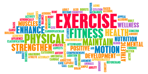 Exercise Word Collage Medfit Education Foundation